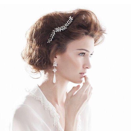 Keren Wolf Crystal Pearl Drop Earrings