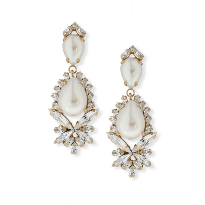 Maxi pearl crystal clip earrings-1