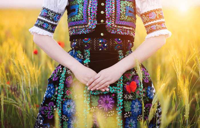 Народное свадебное платье